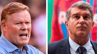 """Laporta: """"Con independencia del resultado, Koeman seguirá siendo el entrenador"""""""